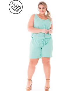 Macacáo Plus Size - Confidencial Extra De Sarja Color - Tricae