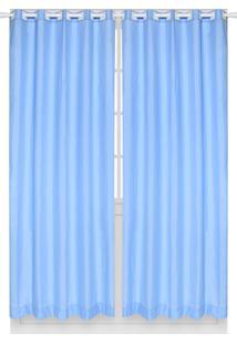 Cortina Santista Londres Lisa 230X280 Indigo Azul
