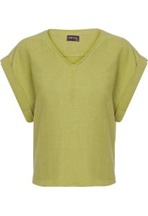Blusa Feminina Raglan Decote V - Verde