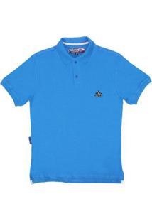 Camisa Gola Polo Masculina Rodeo Western - Masculino-Azul