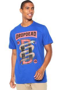 Camiseta Drop Dead Snake Azul