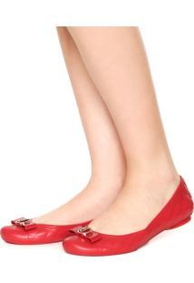Sapatilha Dumond Matelassê Logo Vermelha
