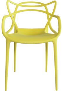 Cadeira Decorativa Lym Decor Amsterdam Amarelo