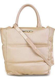 Bolsa Petite Jolie Amelia Bag Feminina - Feminino-Bege Claro