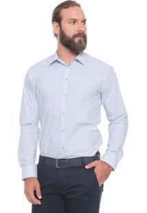 Camisa Forum Reta Listras Azul
