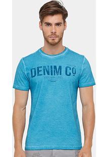 Camiseta Tigs Tinturada Denim Masculina - Masculino