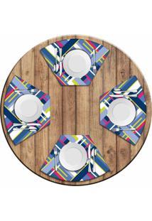 Jogo Americano Love Decor Para Mesa Redonda Wevans Poly Kit Com 4 Pçs - Kanui