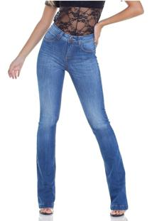 Calça Jeans Boot Cut Estonada