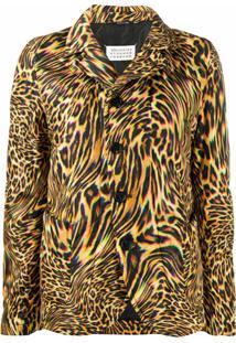Maison Margiela Blazer Com Estampa De Leopardo - Amarelo
