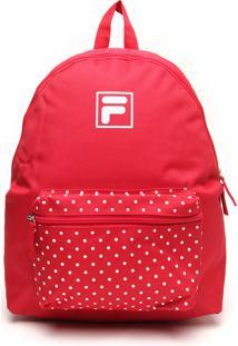 Mochila Fila Play Logo Vermelho