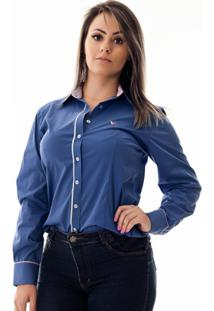 Camisa Pimenta Rosada Charlotte - Feminino-Azul Royal