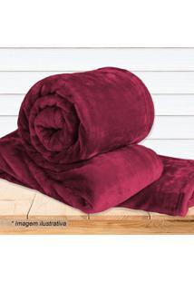 Cobertor Super Soft Queen Size- Vermelho Escuro- 220Sultan