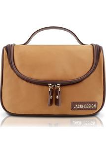 Necessaire Jacki Design Com Gancho Lisa - Feminino-Caramelo