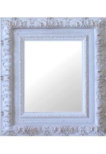 Espelho Moldura Rococó Externo 16273 Branco Patina Art Shop
