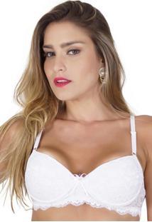 Sutiá Click Chique Básico Rendado Branco - Tricae