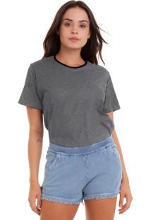 Camiseta Feminina Joss Botonê Listrado - Kanui