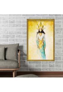 Quadro Love Decor Com Moldura Golden Woman Dourado Grande