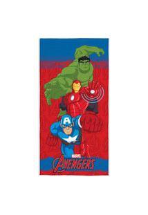 Toalha De Banho Infantil Estampa Avengers Lepper 1 Peça