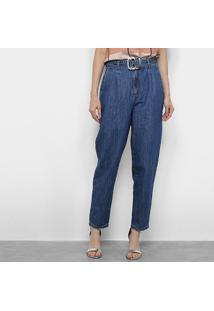 Calça Jeans Morena Rosa Pantalona Feminina - Feminino-Azul