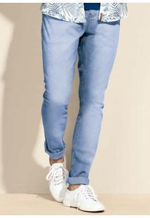 Calça Jeans Masculina Na Modelagem Slim Com Lavação Moderna