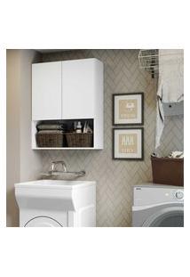 Armário Banheiro/Lavanderia Com 2 Portas Aspen Smart Multimóveis Branco