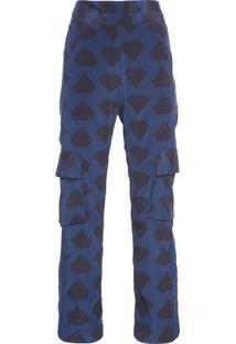 Calça Feminina Pantacourt Monaco - Azul Marinho
