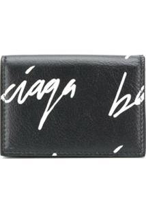Balenciaga Carteira Com Estampa De Logo - Preto