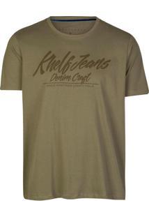 Camiseta Khelf Jeans Denim Craft Militar