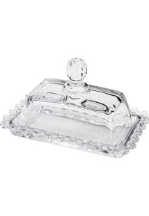 Manteigueira Rojemac Em Cristal Pearl Incolor