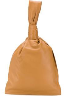 Bottega Veneta Bolsa Bucket Com Alça Única - Marrom