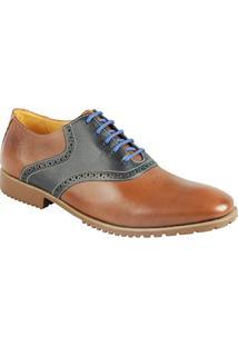 Sapato Social Masculino Oxford Sandro Moscoloni Porthsmouth Marrom
