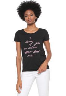 Camiseta Jdy Lettering Preta