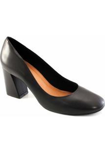 Scarpin Bico Redondo Sapato Show - Feminino-Preto