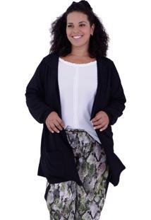 Cardigan Vickttoria Vick Júlia Black Plus Size
