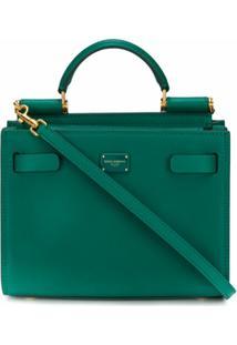 Dolce & Gabbana Bolsa Tote Sicily 62 Mini - Verde