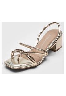Sandália Dakota Tiras Dourada