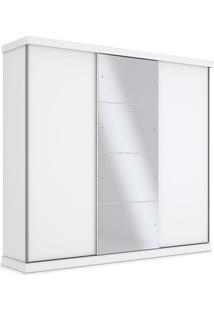 Armário 03 Portas Com Espelho, Branco, Turquesa