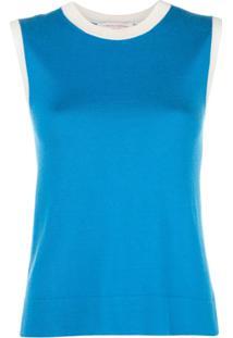 Carolina Herrera Blusa Bicolor - Azul