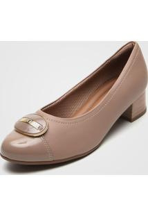 Scarpin Piccadilly Fivela Bege