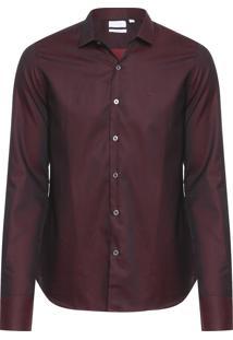 Camisa Masculina Slim Cannes - Vinho