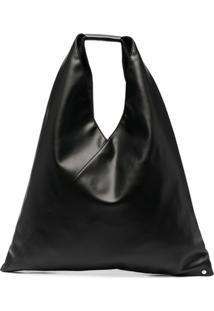 Mm6 Maison Margiela Slouchy Top Handle Tote Bag - Preto