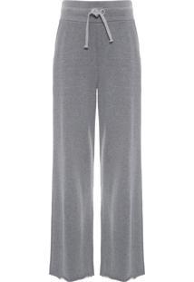 Calça Feminina Classic Fleece E-Basics - Cinza