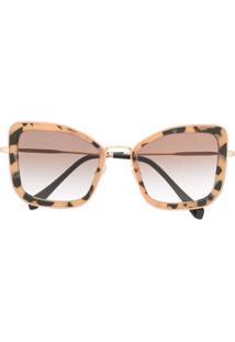 Miu Miu Eyewear Óculos De Sol Oversized - Rosa