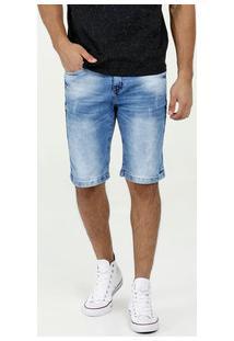 Bermuda Masculina Jeans Puídos Akiyoshi Denim