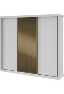 Guarda-Roupa Maggiore Glass Com Espelho - 3 Portas - Branco