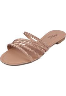 Rasteirinha Trivalle Shoes York Nude Cobre