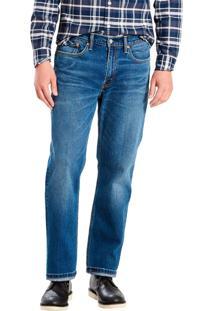 Calça Jeans Levis Masculina 514 Straight Indigo Azul Média Azul