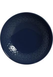 Jogo De Pratos Porto Brasil 6Pçs Agra Deep Blue Azul-Marinho