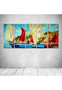 Quadro Decorativo - Oil Painting - Composto De 5 Quadros - Multicolorido - Dafiti