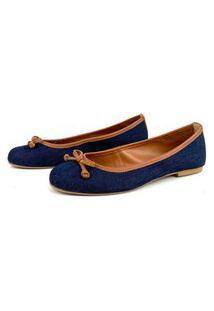 Sapatilha Flats&Co Jeans